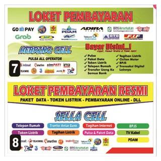 spanduk jual pulsa/loket pembayaran 200x100 | Shopee Indonesia