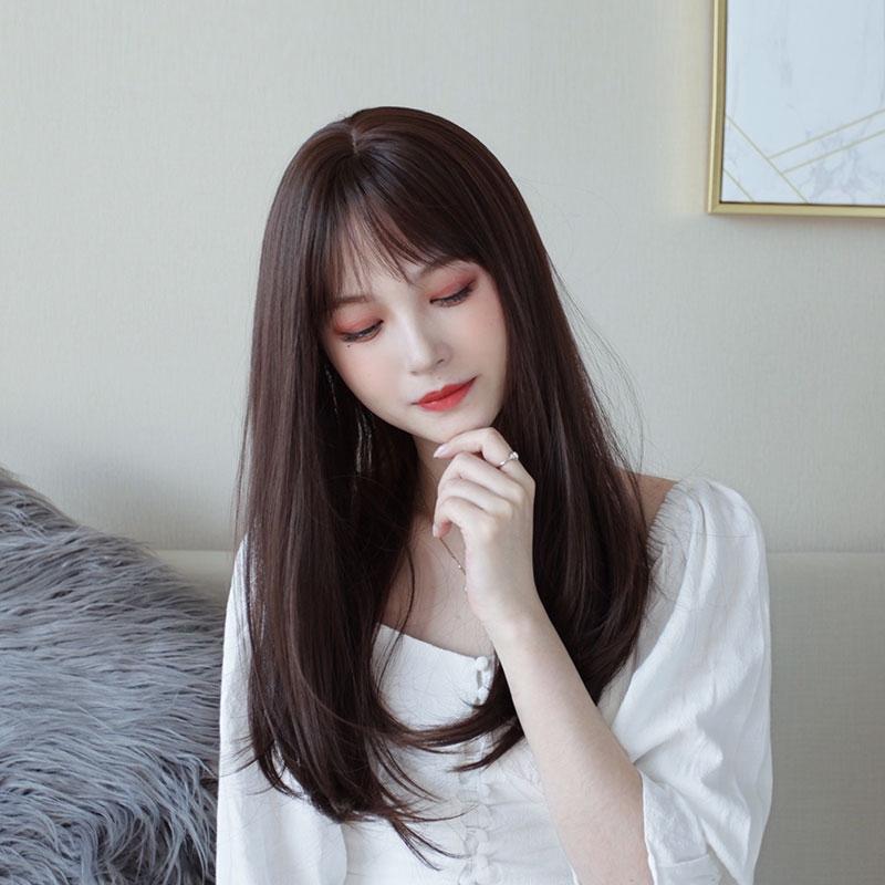 Wig Perempuan Tengah Rambut Panjang Klavikula Rambut Poni Udara Alami Mengembang Rambut Pendek Putar Shopee Indonesia