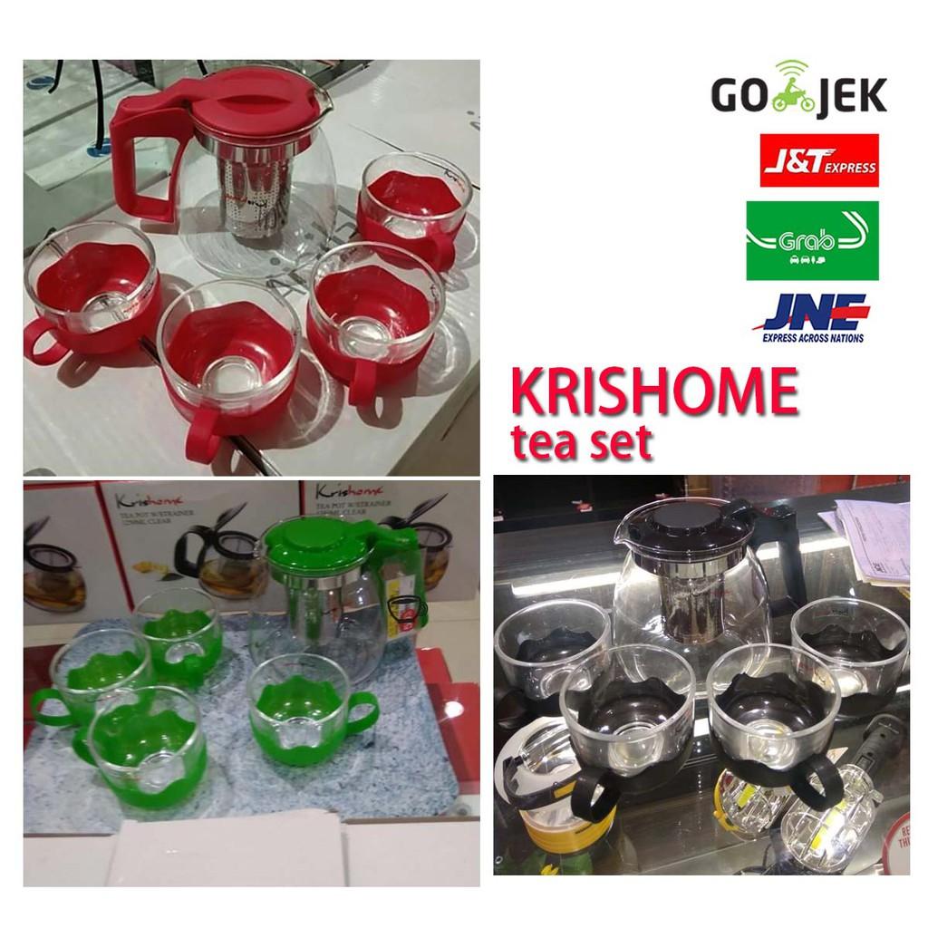 Home Living Krishome Daftar Harga Desember 2018 Lion Star Teko Thermo Water Jug 13 L K 1 Tea Set Dan 4 Gelas Kris