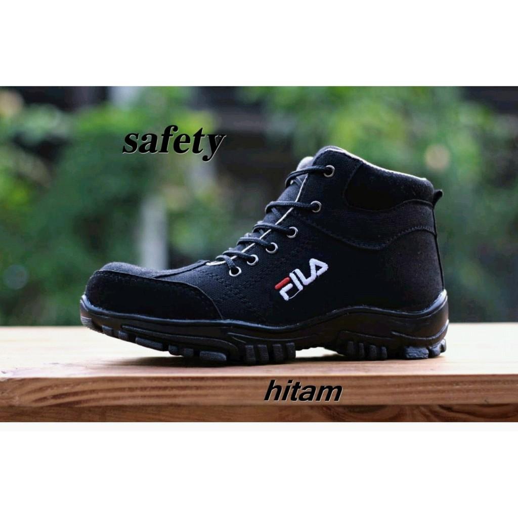 Sepatu Safety Ujung Besi Kickers Pdl Pdh Tni Polri Proyek Lapangan Sandal  Kulit Pria Harley Davidson e224cb5fb3