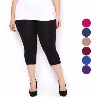 Celana Legging Jumbo Pendek 3 4 Fashion Wanita Celana Murah Wanita Shopee Indonesia