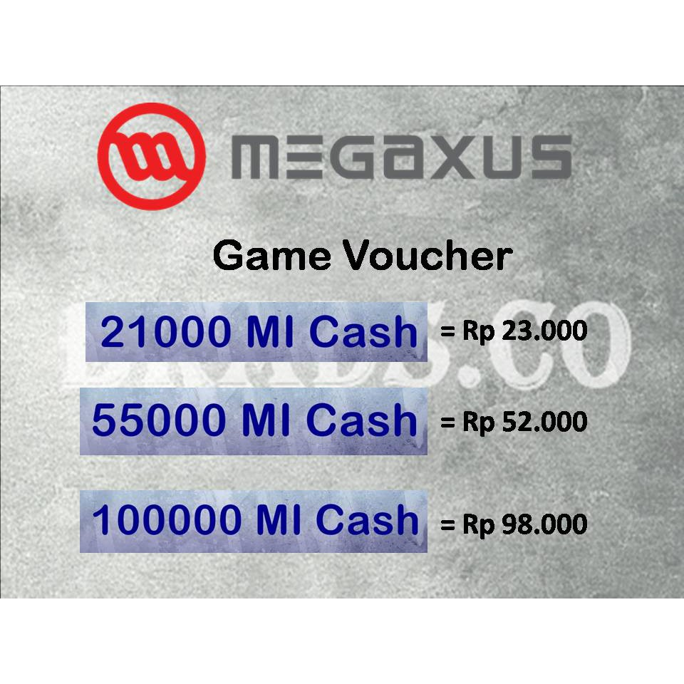 Voucher Megaxus Rp20000 Shopee Indonesia 100000 Digital Code