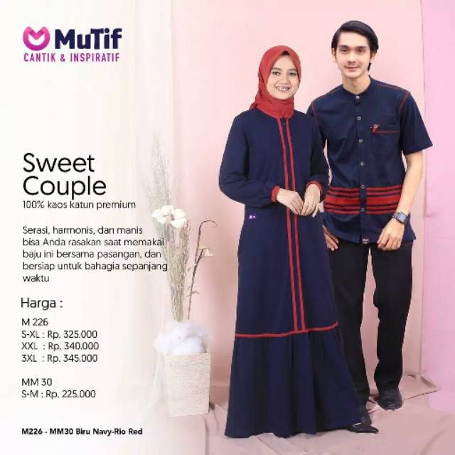 Mutif M 226 Gamis Mutif Terbaru Koko Mutif Sarimbit Mutif Shopee Indonesia