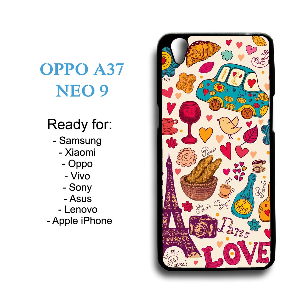 Case Paris Wallpaper 01 Custom Case Oppo A37 Neo 9 Shopee Indonesia