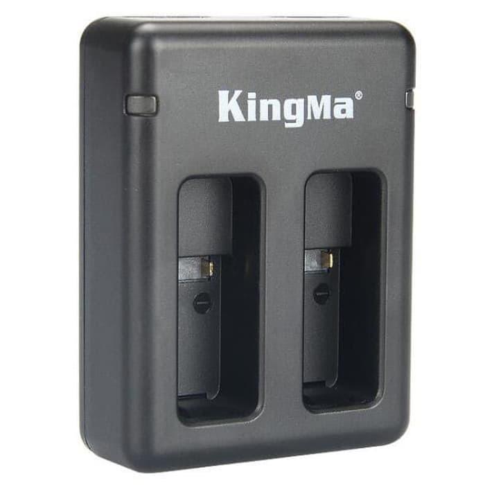 [Bayar Di Tempat]Charger Baterai 2-Slot Kingma KBM042 Untuk GoPro Hero 5