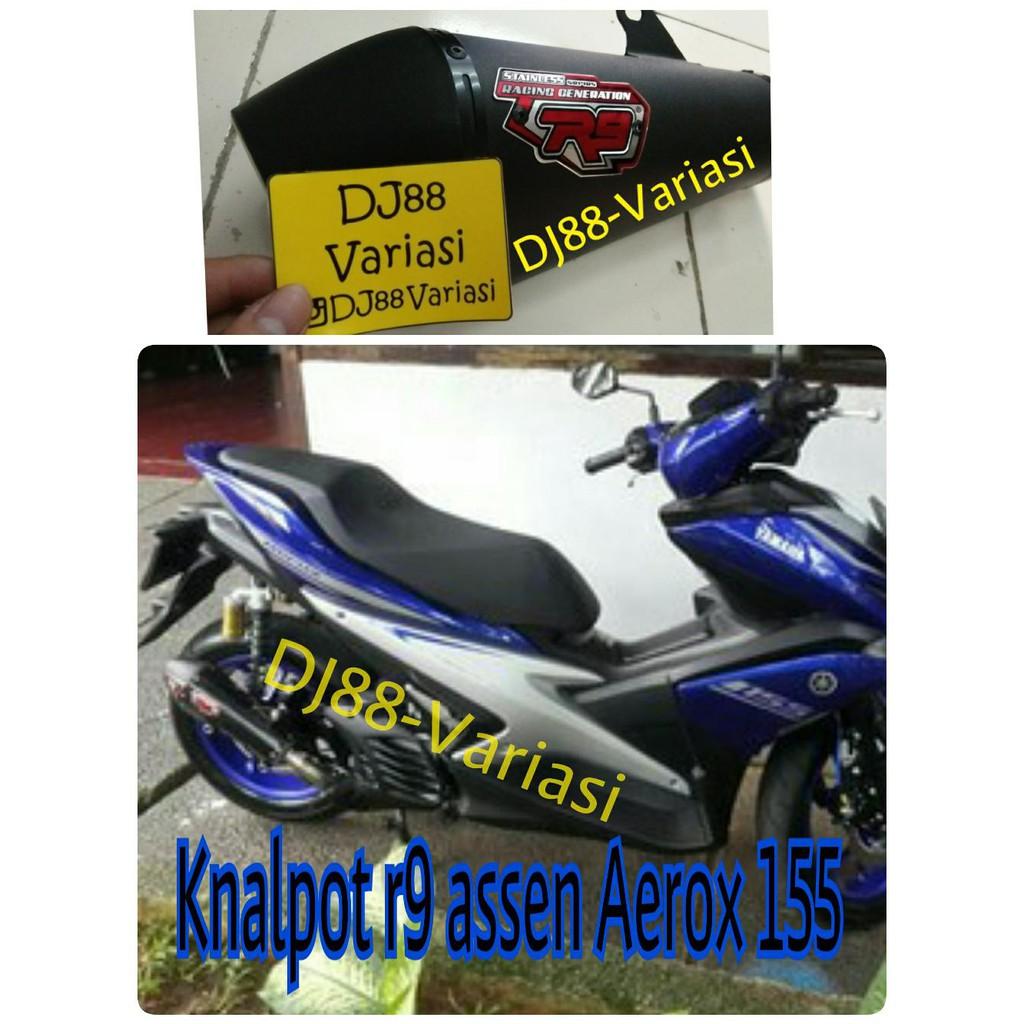 Knalpot R9 Assen Black Mx King Shopee Indonesia Full System New Mugello Mega Pro Exhaust Megapro