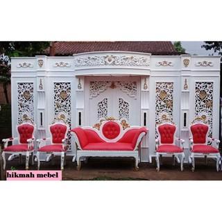 Set Dekorasi Pelaminan Minimalis Variasi Ukir Shopee Indonesia