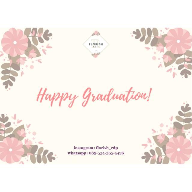 Tambahan Kartu Ucapan Buket Bunga Happy Graduation Shopee Indonesia
