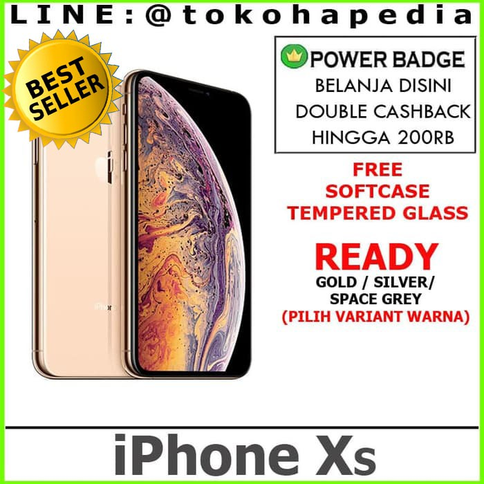 NEW IPHONE XS 64GB 64 GOLD SILVER SPACE GREY / GRAY - GREY