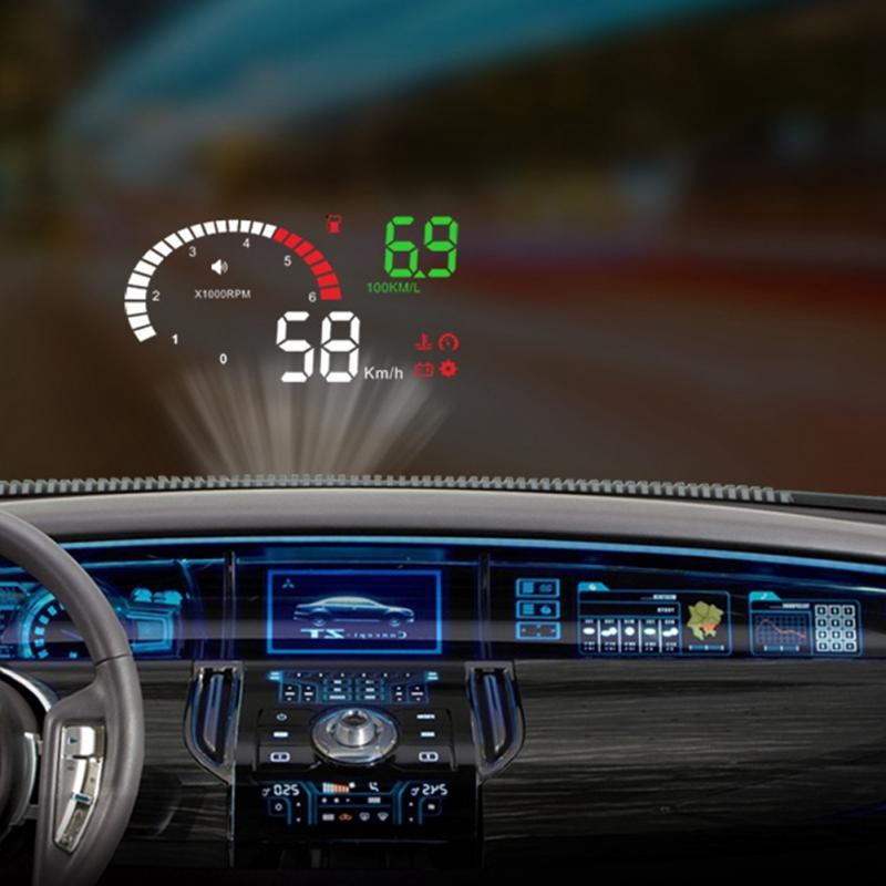 Best Hud For Car >> Welcomehome Car Hud Display Universal Car Multi Functional Head Up Display 9v 16v High Quality Abs