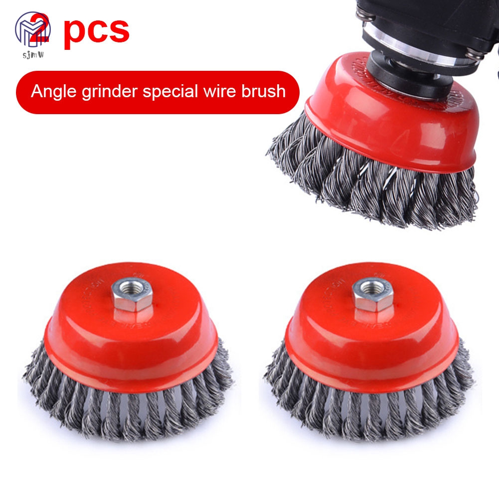 Twist knot steel wire wheel brush M14 Rust removal wire wheel Cup Brush Disc For Angle Grinder