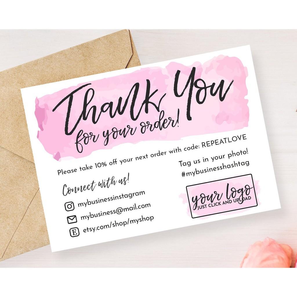 Kartu Ucapan Terima Kasih Online Shop Acara Shopee Indonesia