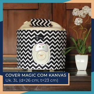 Cover Magic Com 3L (+Handle) / Cover Rice Cooker - Motif Chevron Hitam | Shopee Indonesia