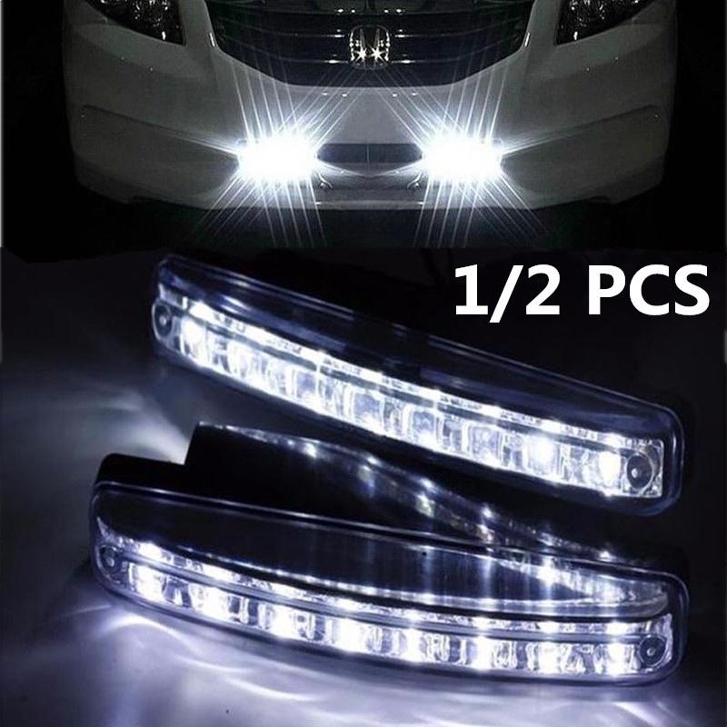 1 Pcs Lampu LED Daytime Running Light / DRL Mobil / Motor Plasma / 8 LED SMD 15.5 cm - White | Shopee Indonesia