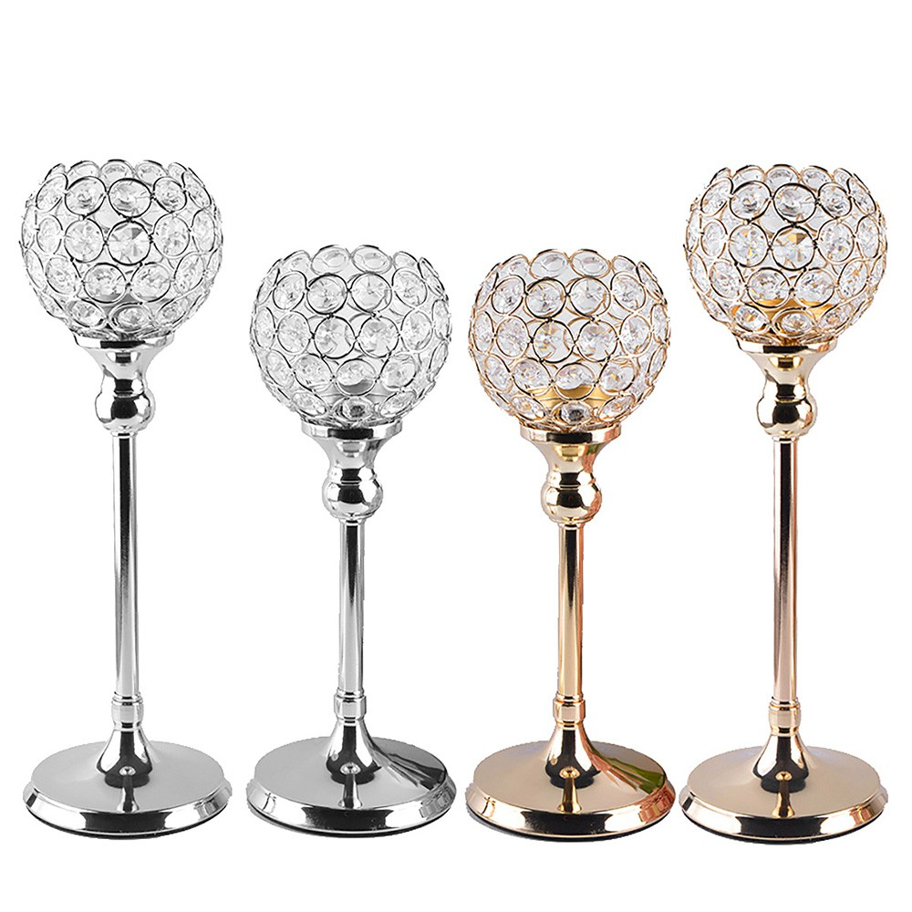 Crystal Candlesticks Candle Holders Wedding Home Table Centerpieces Decoration