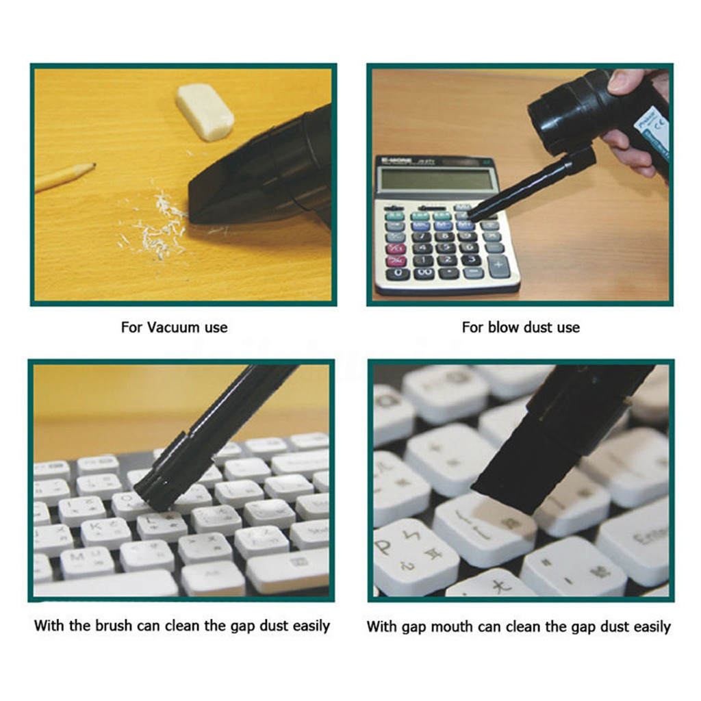 MS-C002 Mini 2in1 Multifunction Blower Vacuum Cleaner For PC Keyboards Printers HD Fax Phone Video Games MP3 MP4 Cameras