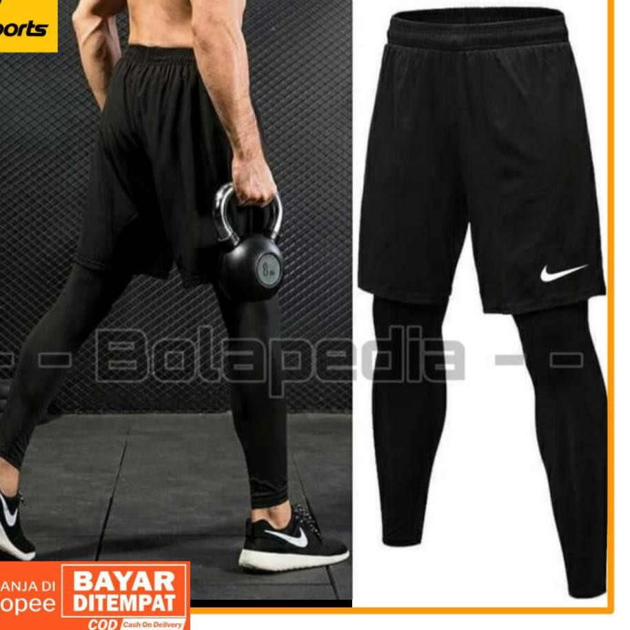 Tren Masa Kini Bundling Celana Pendek Training Legging Baselayer Olahraga Training Futsal T Shopee Indonesia