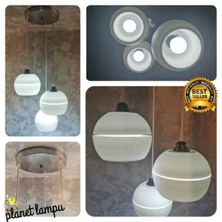 kap lampu gantung hias 3 in 1 minimalis cafe plafon