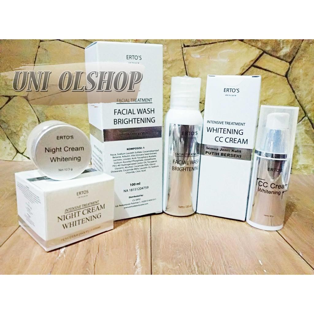 Paket Seserahan Mineral Botanical Whitening Tanpa Box Shopee Hemat Ertos Kekinian Facial Treatment And Night Cream Indonesia