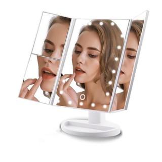 Kaca Rias LARGE LED / Mirror LED Model Trifold/ Cermin ...