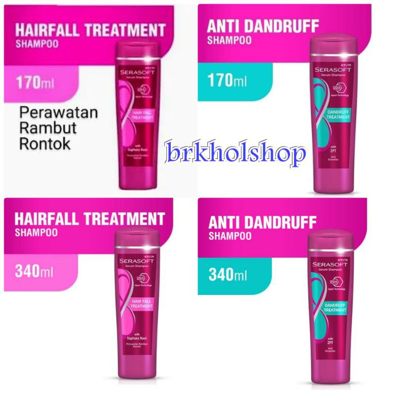 SERASOFT SERUM SHAMPOO HAIR FALL & DANDRUFF  TREATMENT 170/340ML