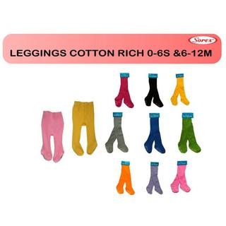 6-12m SOREX legging cotton rich leging baby polos lejing ll celana .