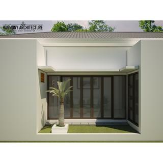 desain rumah minimalis modern 1 lantai (lahan 7,5 x 20