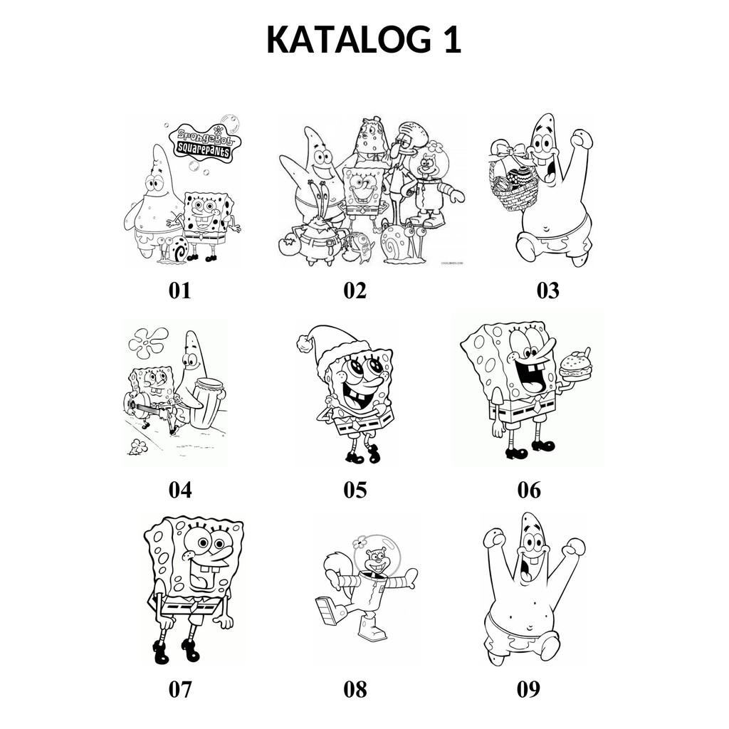 Cetak Gambar Mewarnai Untuk Anak Karakter Kartun Spongebob Murah