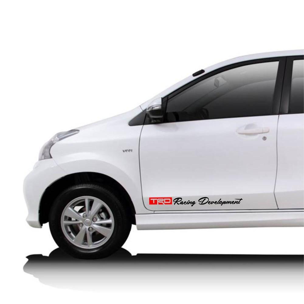 Promoo Stiker Trd Sportivo Toyota Racing Development Aksesoris Scotlite Skotlet Sticker Antigores Hitam Transparan Riben Decal Muraah Shopee Indonesia