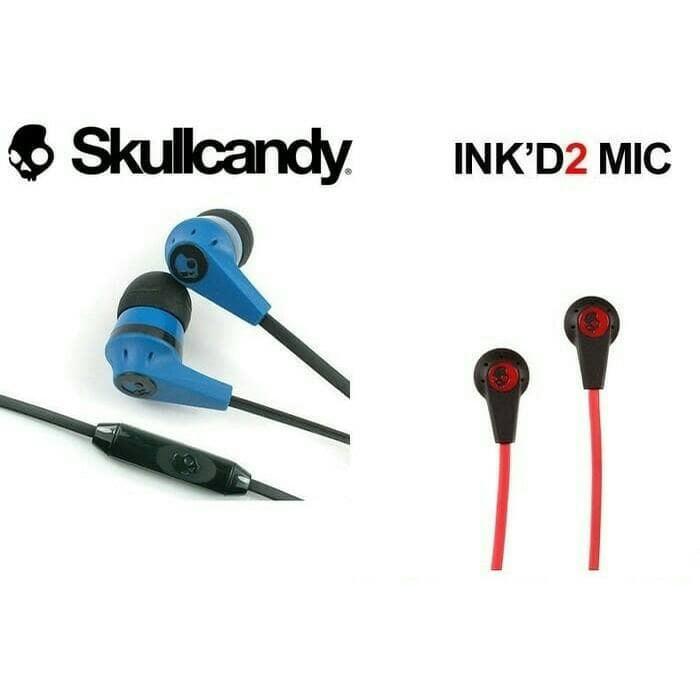Skullcandy INK'D S2IKFY-323 Earphones With Mic 3.5mm - Hijau/Hitam | Shopee Indonesia