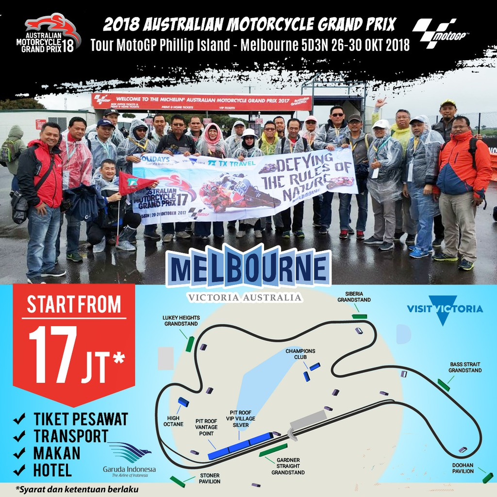 Tour Motogp Thailand 3d2n 6 8 Okt 2018 By Aa Start Jakarta Double Sic Racing Team K2 Uncovered Hillstand Tiket Sepang 2 4 Nov Shopee Indonesia