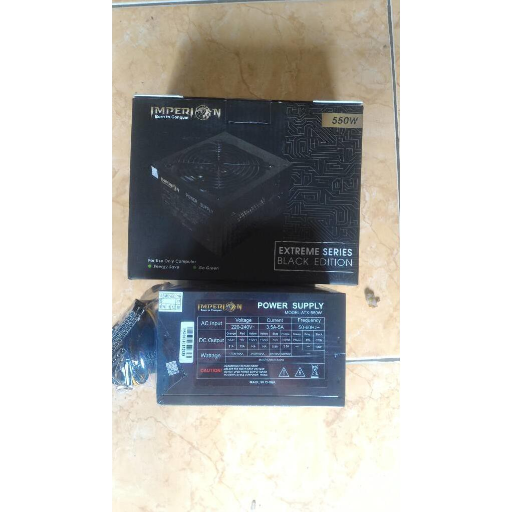 Imperion Power Supply Gaming 550watt Kabel 6pin Daftar Relay Penghubung 2 Psu 24 Pin Dual Atx Untuk Mining Extension 550w 550 Watt 6