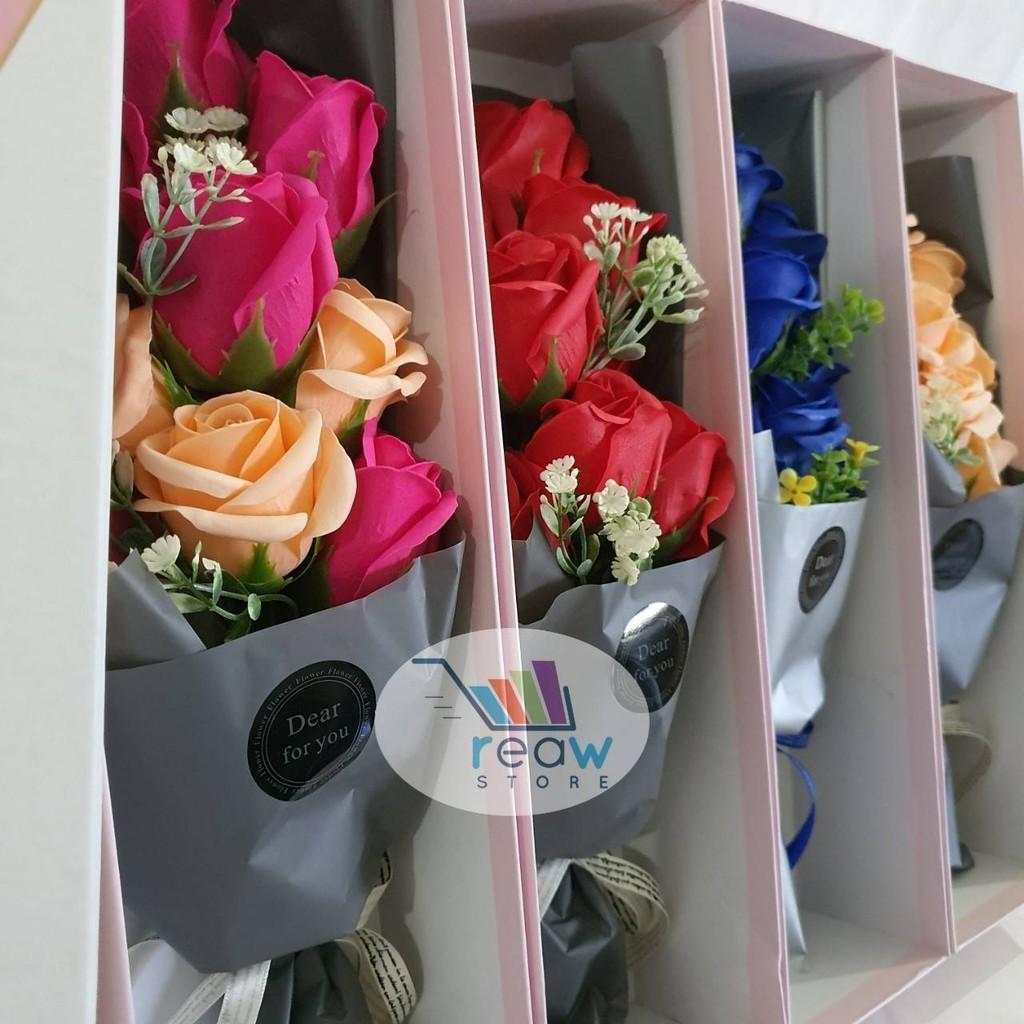 Souvenir Kado Gift Box Buket Bunga Sabun Kertas Premium Isi 9 Shopee Indonesia