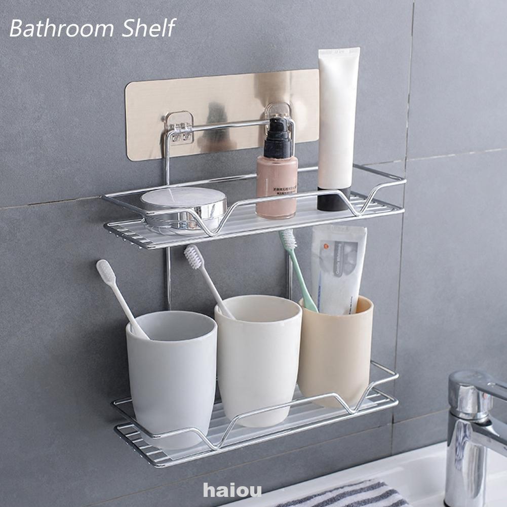 Corner Kitchen Shower Cosmetic Wall Mounted Home Bathroom Shelf Shopee Indonesia