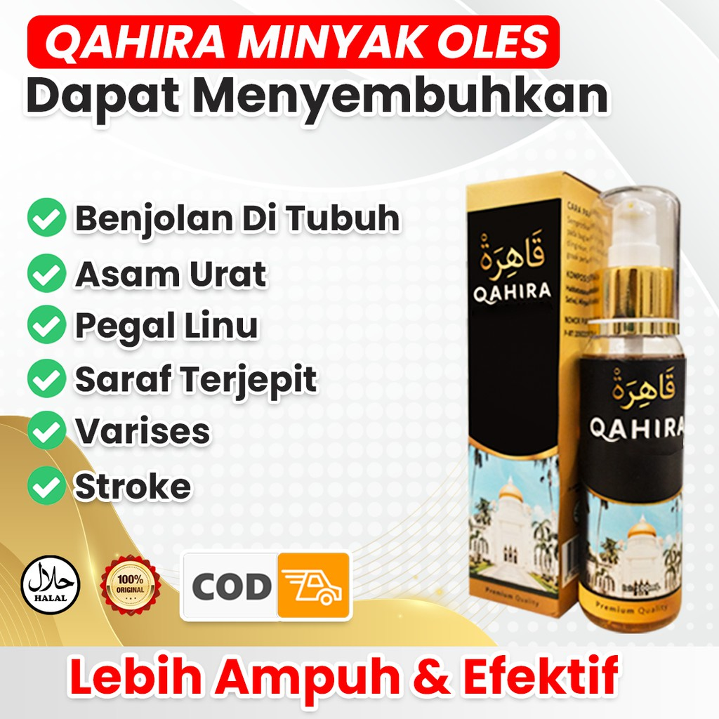 Minyak Oles Qahira Habbatussauda Original Menyembuhkan Benjolan