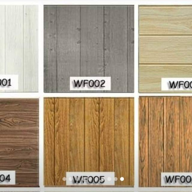 Grosir Murah Wallpaper Dinding 3d Foam Motif Papan Kayu Warna Coklat Grey Cream Modern Shopee Indonesia