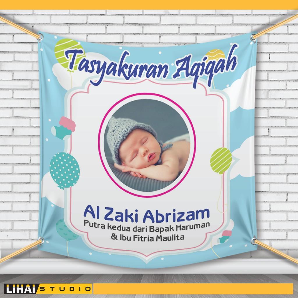 Banner Tasyakuran Aqiqah - desain spanduk kreatif