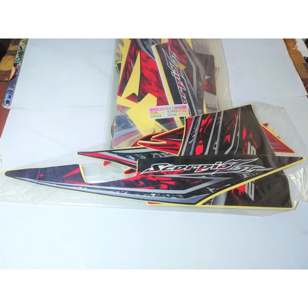 Jual Stiker Bodi & Lis Body & Striping Beat 2012 Putih Biru   Shopee Indonesia