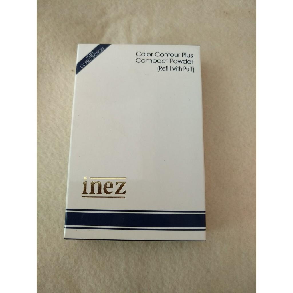 Inez Color Contour Plus Compact Powder 01 Natural Glow 12g 320203 Face Shopee Indonesia
