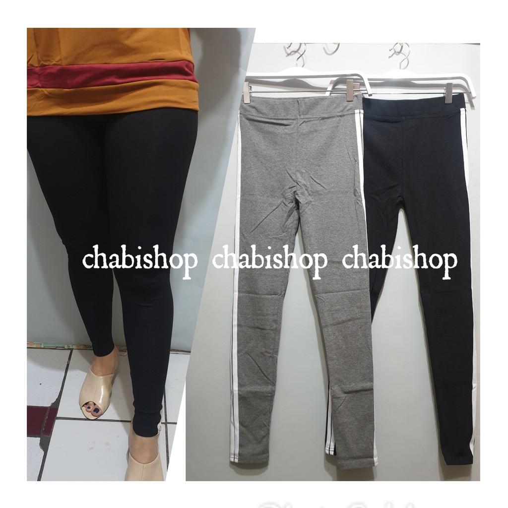 Chbshop Celana Legging Wanita Import Panjang Bahan Kaos Tebal Premium Murah Santai Olahraga Shopee Indonesia