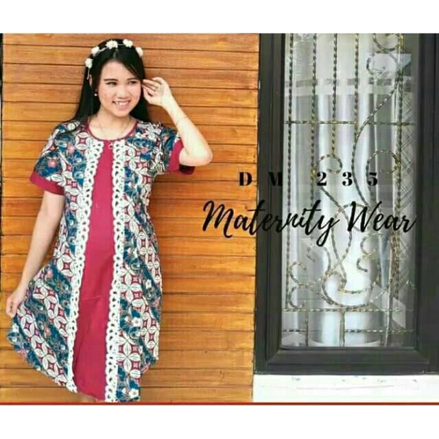 Dress Batik Hamil Dress Kerja Batik Ibu Hamil Baju Kantor Batik Dress Pesta Batik