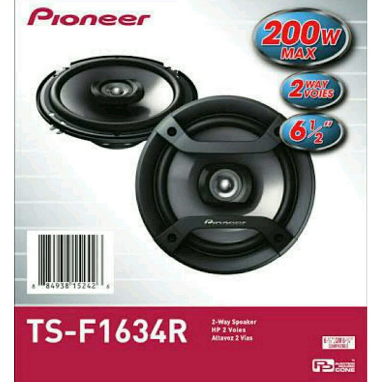 Speaker Coaxial Two Way Pioneer Ts F1634r 4inchi Speaker Mobil 6 Inchi Type Coaxial Two Way Shopee Indonesia