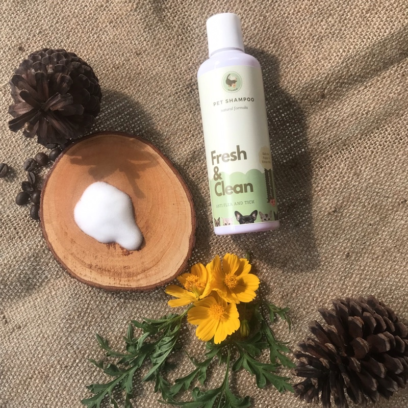 Shampo kucing anjing | shampo anti gatal dan kutu | cat and dog shampoo | natural pet shampoo 250ml-Cherry blossom