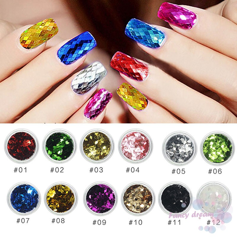 ♛FD♛ DIY Nail Art Sequins Glitter Face Body Eye Shadow Nail Tips Decoration  Manicure  50098d599df8