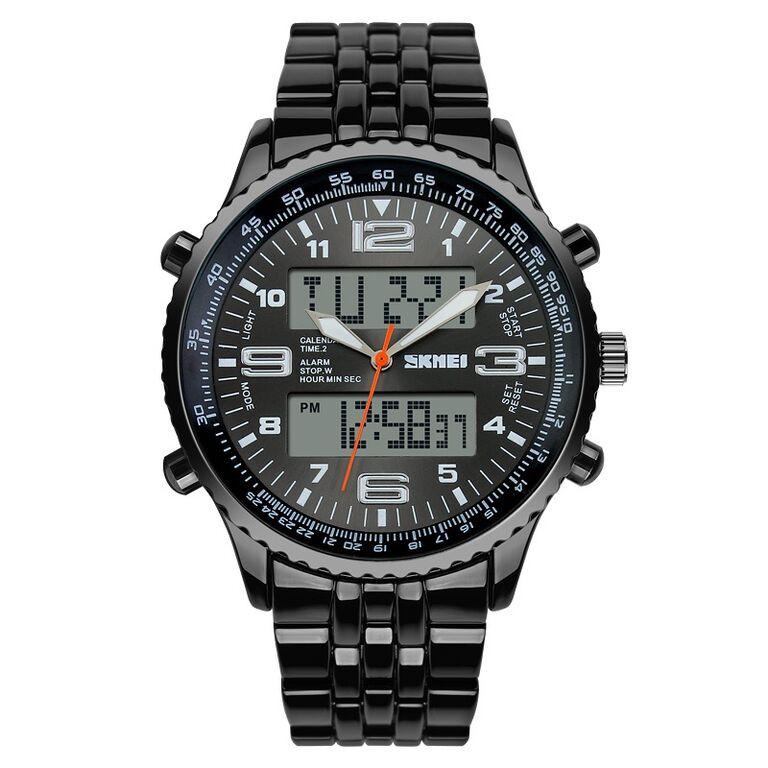 ASLI Jam tangan cowok outdoor QQ GW86J005Y original strap rubber dual time   4edacc8ec8