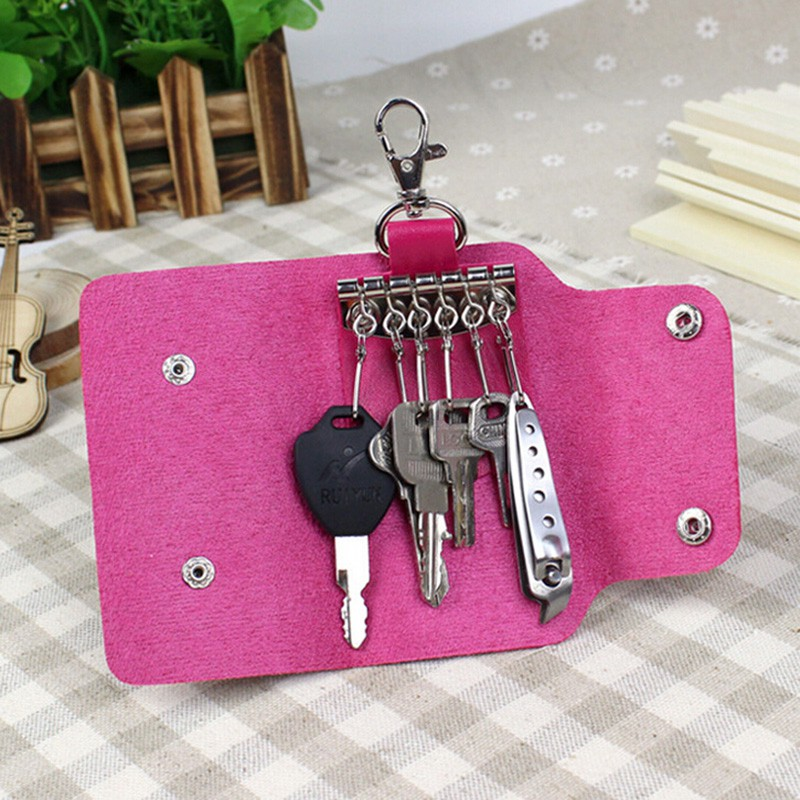 WHID New PU Leather Key Chain Accessory Pouch Bag Wallet Case Key Holder 1 Pcs