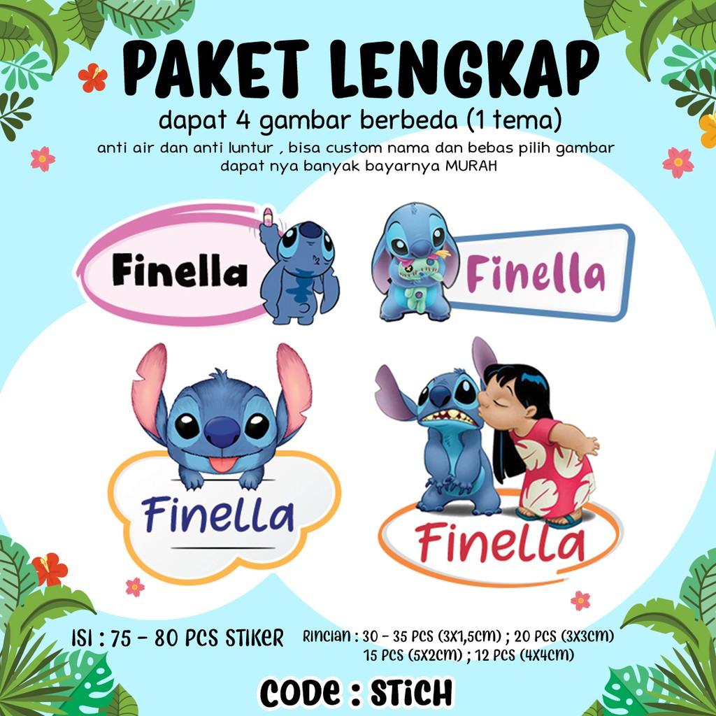 Sticker nama custom waterproof shopee indonesia