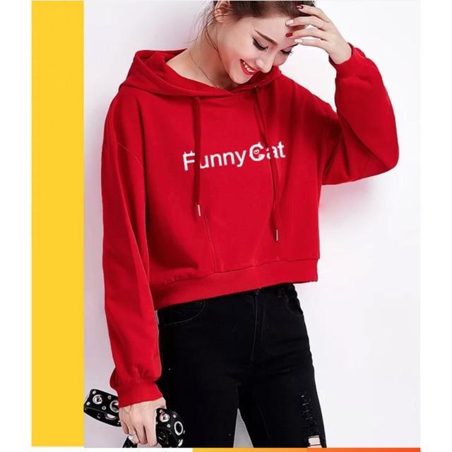 Sweater Hoodie Lengan Panjang Longgar Gaya Retro Motif Tulisan  Come In We  Are Open  untuk Wanita  8e01820bdf