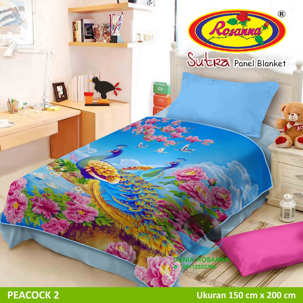 Toko Online Rosanna World Shopee Indonesia Selimut Vito Kids Sutra Panel 100x140 Submarine