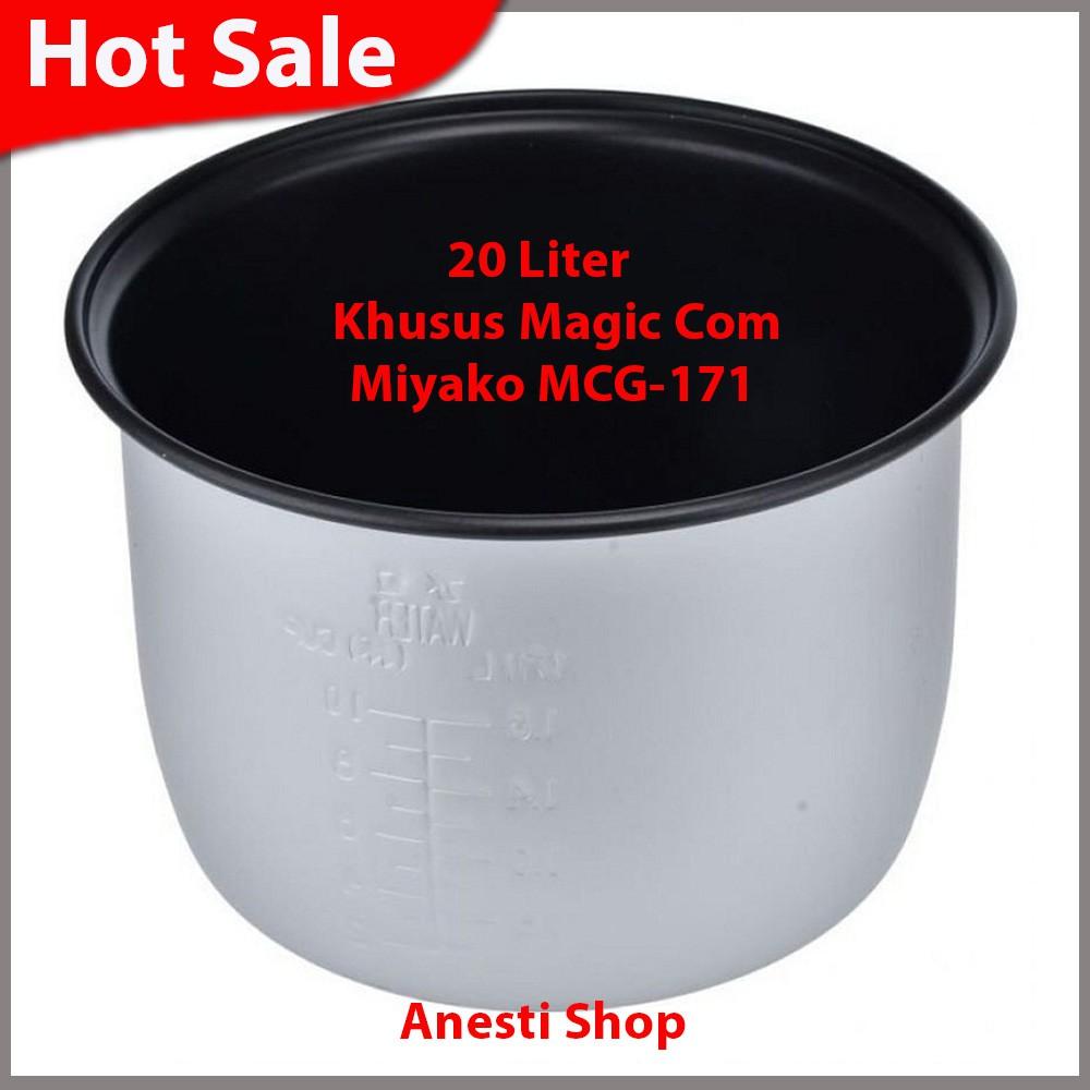 Miyako Inner Pot Magic Com Rice Cooker Kap 0 6 Liter Mcm 609 06 Warm And Cook Steamer Wadah Kukusan Tipe 18 L Putih Shopee Indonesia